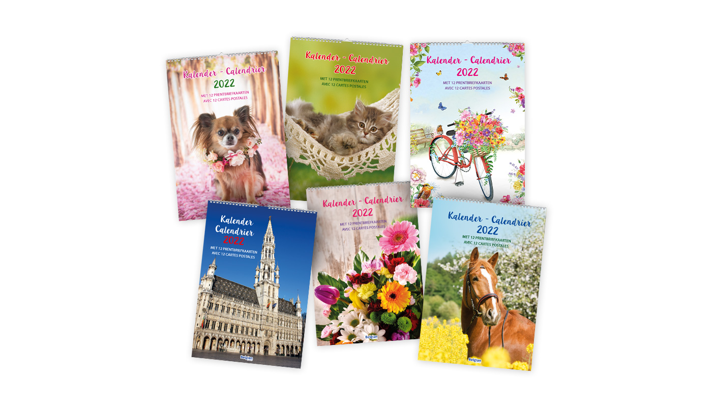 Yearcalendars with postcards